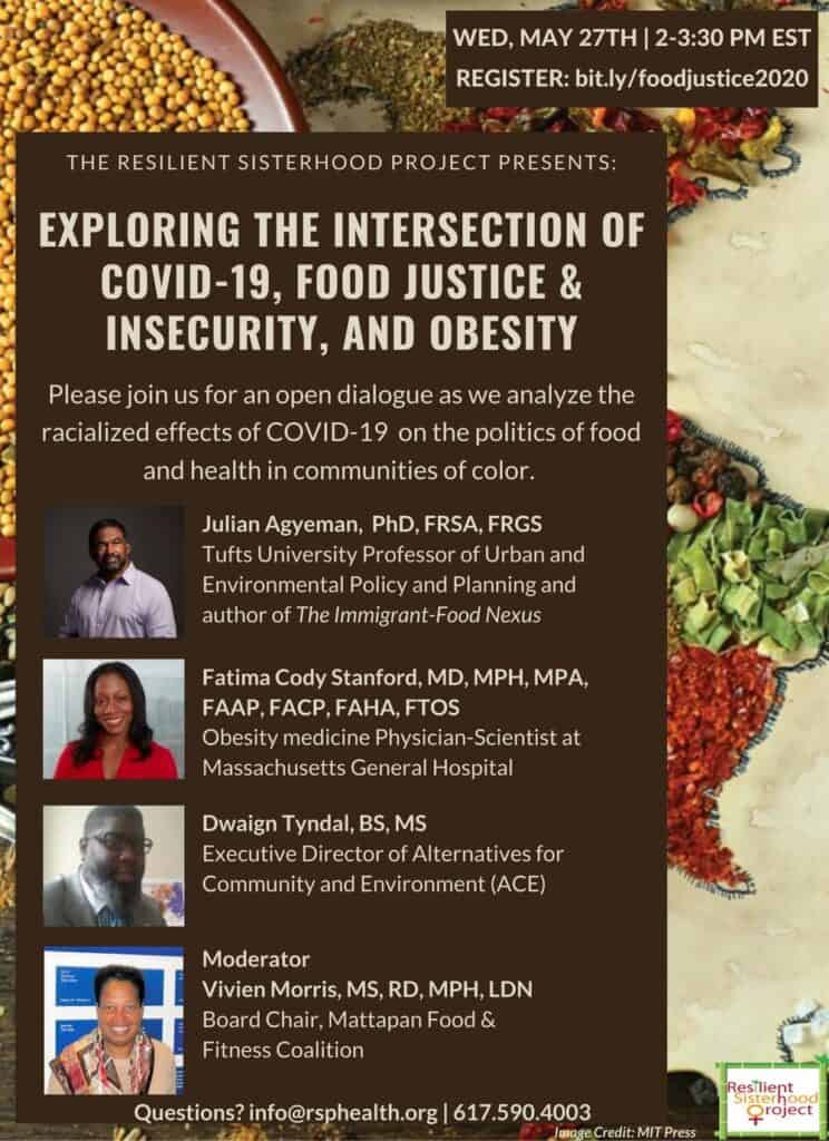 Intersection Covid, Food Justice, Insecurity Obesity